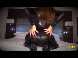 Lady Nina -Shiny Latex  catsuit JOI(Femdom,POV,Mistress,Goddess,Jerk Off Instruction,Dirty Talk)