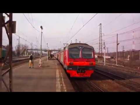 Узуновский электропоезд ЭД4М 0181 на Москву прибывает в Жилево