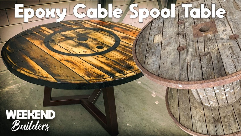 Epoxy Cable Spool Table INCREDIBLE RESULT subtitles included