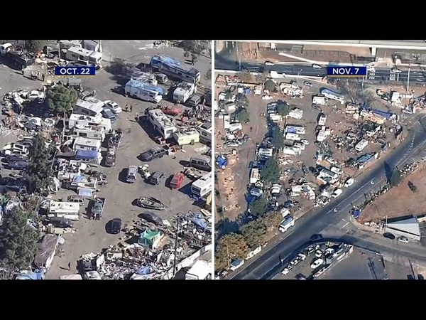 Truckloads of Trash Pulled from Oakland Homeless Camp