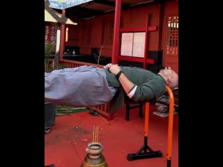 Как спят монахи Шаолинь
