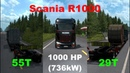 Test Scania R1000 with 1000HP of Power in 3 Runs, Max Speed Heavy Cargo - Euro Truck Simulator 2