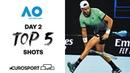 Top 5 shots - Day 2 Australian Open 2021 - Highlights Tennis Eurosport
