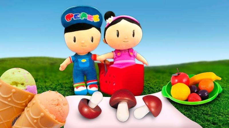 Pepee ile Şila oyunlar Kinetik kumdan dondurma Piknik oyunu