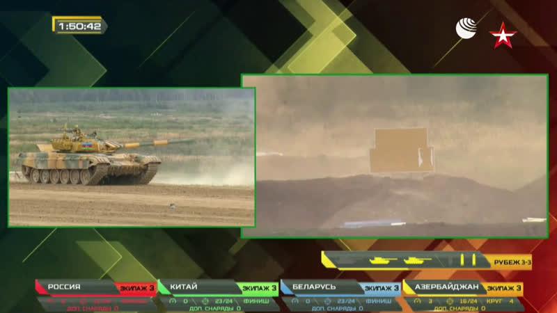 Финал танкового биатлона в Алабино
