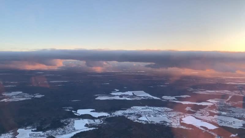 Зимний полет на вертолете Robinson R44