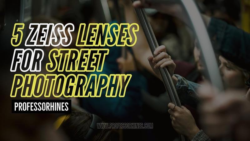 Top 5 ZEISS Lenses for Street Photography Sony E Mount AskTheProfessor