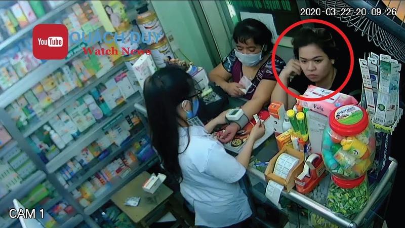 Truy tìm nữ áo đen vào quầy thuốc hỏi mua tùm lum rồi chôm điện thoại của nữ nhân viên bán hàng