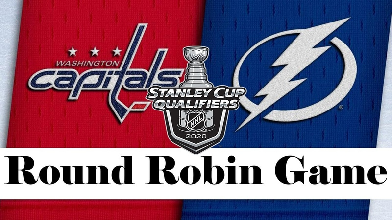 Washington Capitals vs Tampa Bay Lightning Aug 03 2020 Round Robin Game NHL 2019 20 Обзор