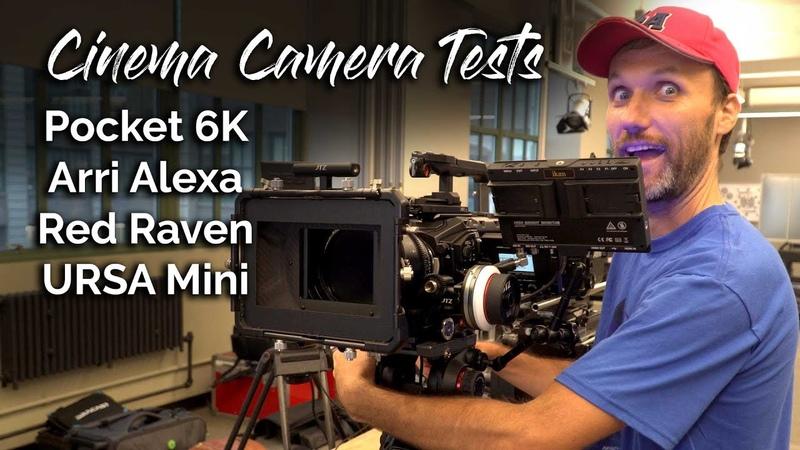 Best Cinema Camera Pocket 6K vs Arri Alexa vs RED Raven vs URSA Mini Pro