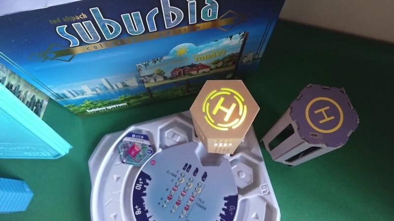 87 3 Suburbia Печатаем крутую светящуюся башню тайлов для игры Субурбия Suburbia