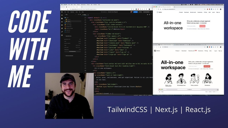 Code With Me Practice TailwindCSS and by rebuilding the Notion landing page