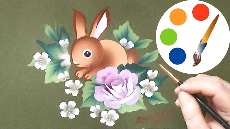How to paint a Rabbit, One Stroke for beginners, easysimple