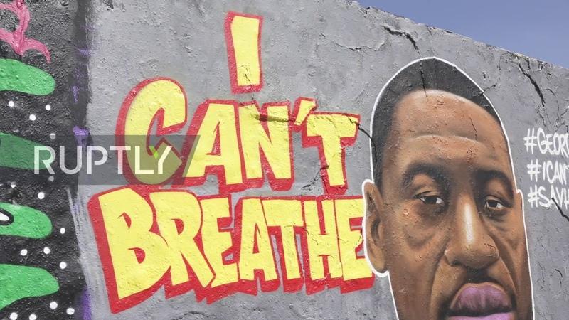 Germany Mural in honour of George Floyd appears on former part of Berlin Wall