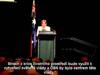SVT PODLE AGENDY 21 Proslov Australsk sentorky ANN BRESSINGTON