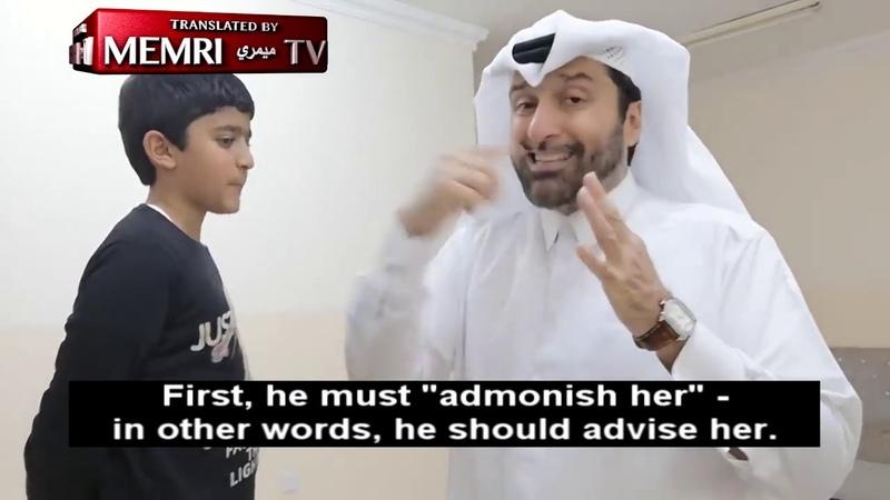 Qatari Sociologist Abad Al Aziz Al Khazraj Al Ansari Demonstrates Correct Wife Beating in Islam