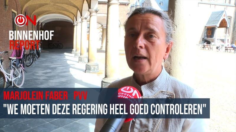 We moeten deze regering heel goed controleren Marjolein Faber PVV 1e Kamer