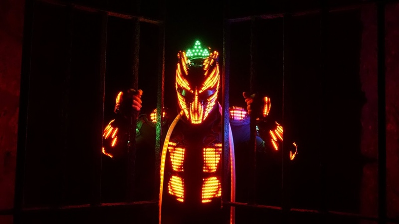 Bollywood style by Shines Creed   Neon Pixel LED show   India   Swag Se Swagat