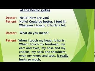 LESSON 31. AT THE DOCTOR (У ВРАЧА)РАЗГОВОРНАЯ ТЕМА. ЧТЕНИЕ БУКВОСОЧЕТАНИЙ  IR/UR/ER