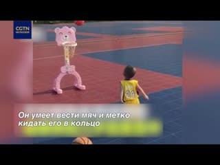Китайский малыш стал местной звездой баскетбола