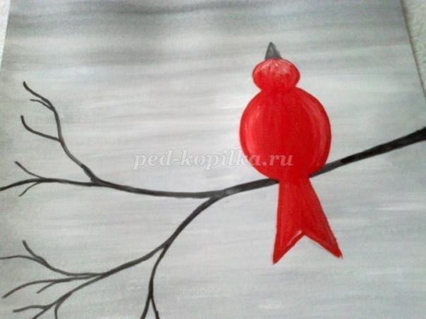 Рисование для малышей Птичка и снежок Автор: Кириллова Ирина Николаевна
