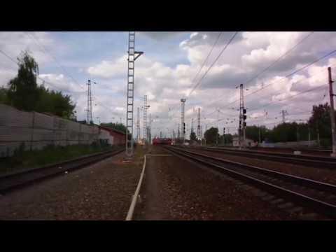 Аэроэкспресс ЭД4МКМ АЭРО 0004 в 4 вагона на станции Домодедово следует в аэропорт