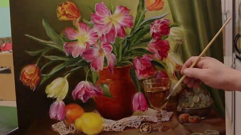 Как написать цветы в классической манере за короткое время