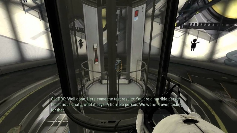 GLaDOS thinks you're a horrible person
