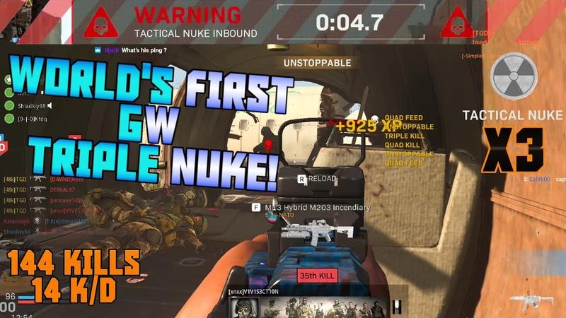WORLD'S FIRST GW PC TRIPLE NUKE!! - Modern Warfare PC MP5 Ground War