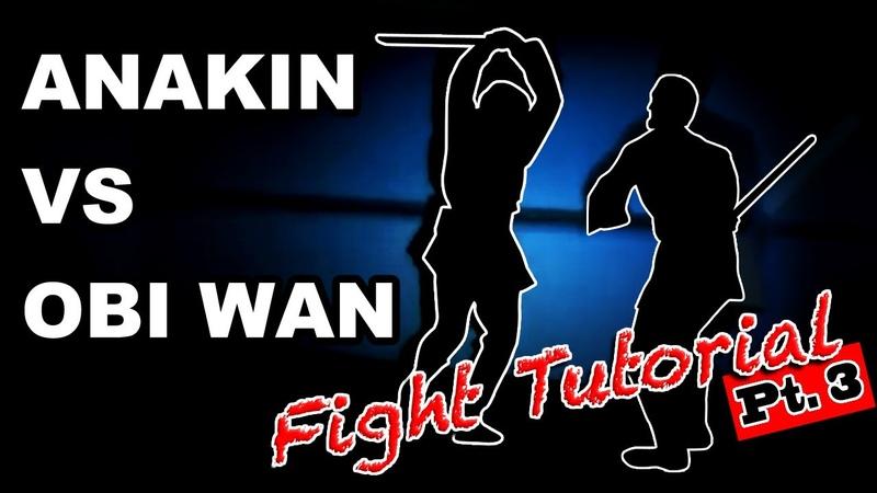 Obi-wan vs Anakin Lightsaber saber forms choreography tutorial