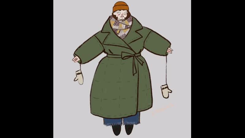 Зимнее одевание мультик