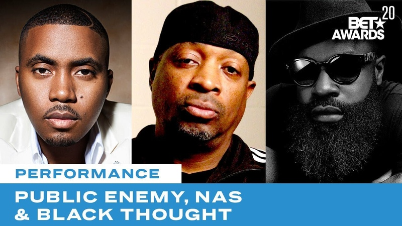 Public Enemy Is Joined By Nas Black Thought More For Rendition of Fight The Power BET Awards 20