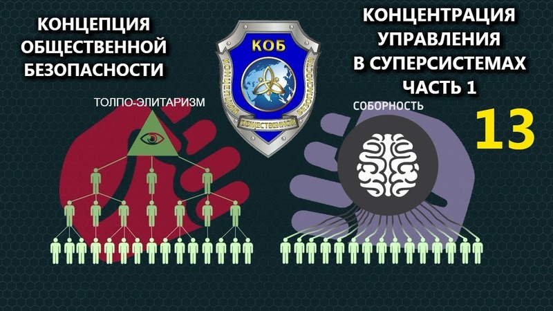Концепция Общественной Безопасности Концентрация Управления в Суперсистемах часть 1