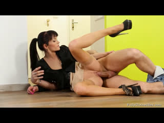 Adel Sunshine seduce a neighbor to sex [Brunette, Small Tits, High Heels, Stockings, Fully Clothed, Orgasm, Hardcore, HD Porn]
