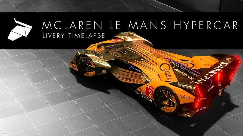 McLaren Le Mans Hypercar Livery Timelapse