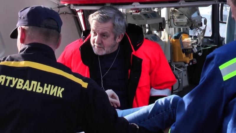 Вертоліт ДСНС транспортував з Донеччини до столиці вагітну у важкому стані