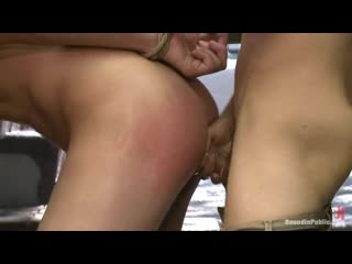 Bound In Public - Ripped, hung stud gets used and abused in a clothing store gay porn