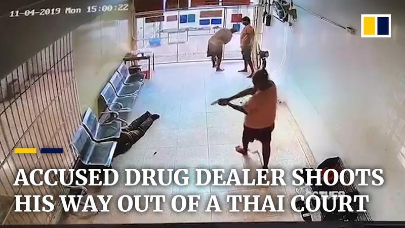 Обвиняемый наркодиллер которому грозит смертная казнь бежит из тайского суда после перестрелки