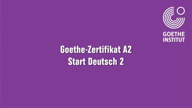 A2 Goethe Zertifikat Start Deutsch 2 Mündlicher Teil Spreche