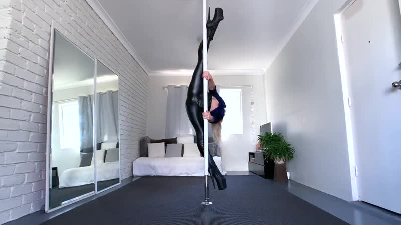Pole Dancing In My New Faux Leather Leggings Sandra Beeston