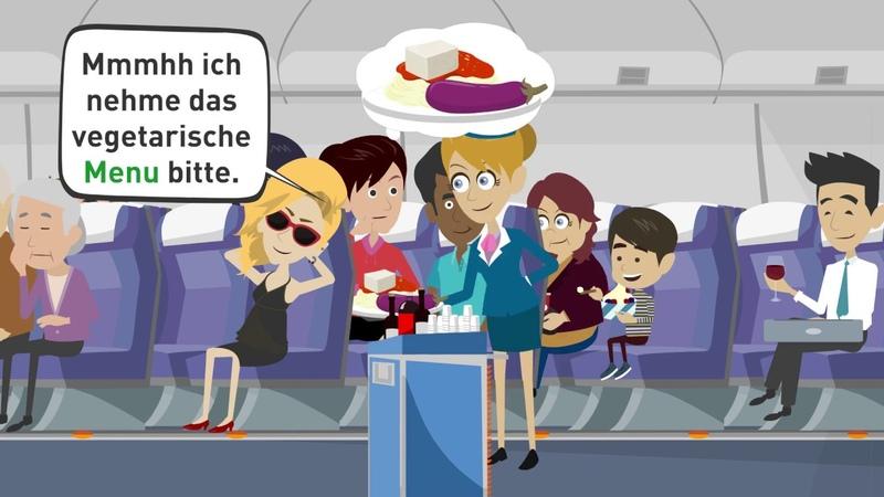 Deutsch lernen A2 B1 Tina und Daniel fliegen in die Ferien Teil 1 Grammatik und Wortschatz