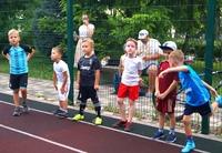 Занятие старшей группы на спортивной