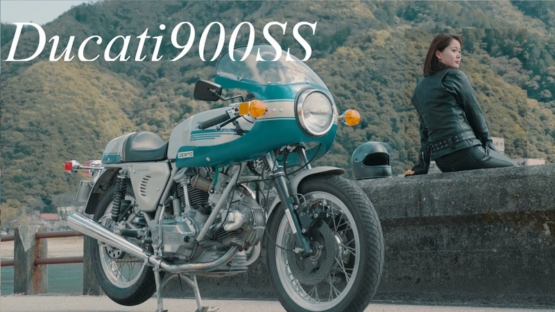 Let's go to Gifu with Ducati 900SS 旧車乗り女性モデルYUがDucati 900SSで行く岐阜大垣市の旅