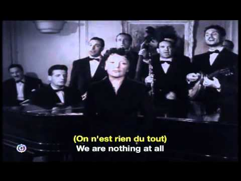 Edith Piaf La Goualante du Pauvre Jean French English Subtitles