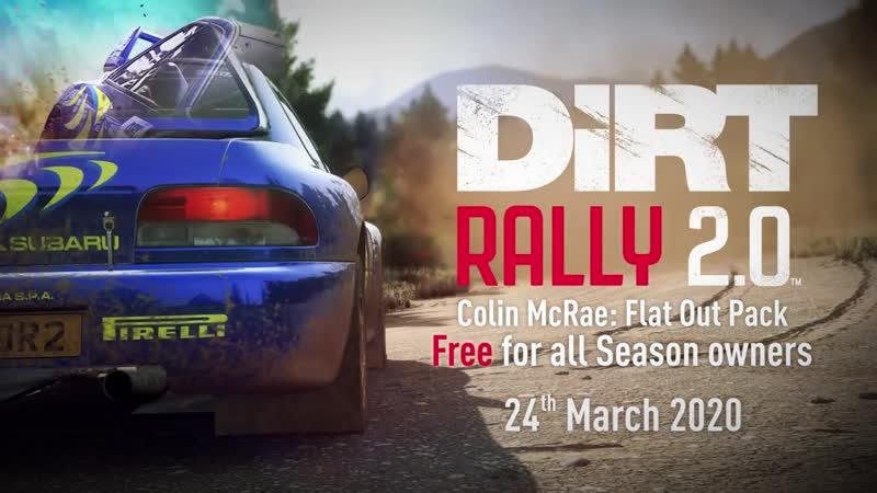 Дополнение Colin McRae FLAT OUT Pack выйдет 24 марта для игры DiRT Rally 2 0