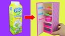 МЕБЕЛЬ для кукол своими руками холодильник для Барби Мастер класс КУКОЛЬНЫЙ ДОМИК DIY
