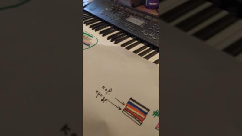 Урок музыки. Цветные ноты.