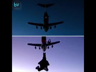 """Как снимали прыжок с парашютом из фильма """"Миссия невыполнима"""""""