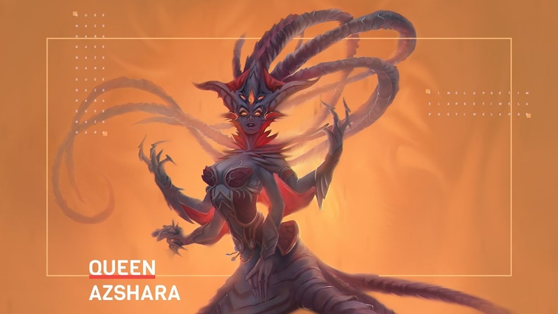 Azshara from World of Warcraft Speedpaint