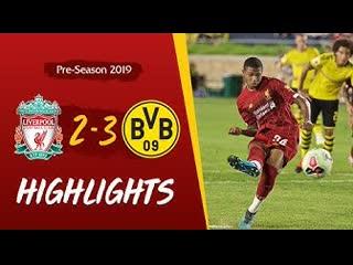 Liverpool vs Borussia Dortmund   Wilson & Brewster score in Notre Dame defeat
